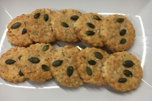 Recette Sablés apéritifs parmesan/pavot