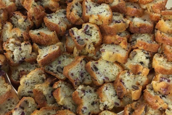 Recette Mini cakes magret de canard séché/noix