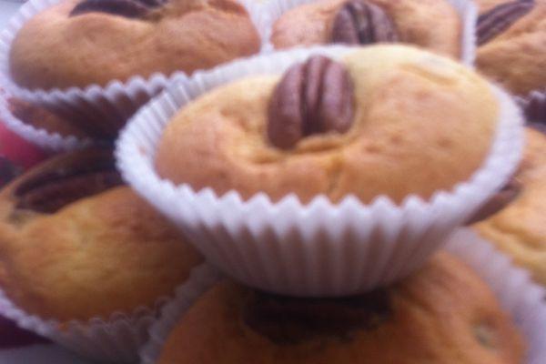 Recette Muffins aux noix de pécan parfumés à la cannelle et au gingem