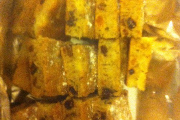 Recette Petits carrés rustiques aux noix et aux fruits secs