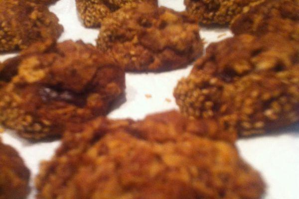 Recette Cookies choco-caramel beurre salé