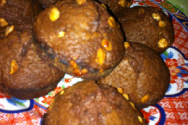 Muffins chocolat-noisettes