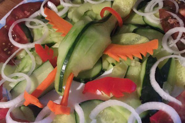 Recette Crudités du pélican (ou mes 1ers essais sculture de légumes)