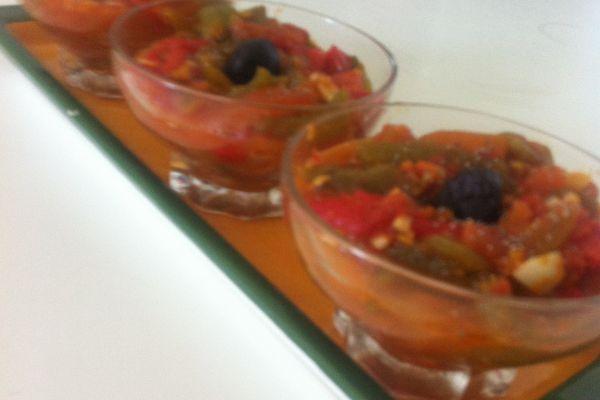 Recette Salade poivrons & tomates grillés au citron confit