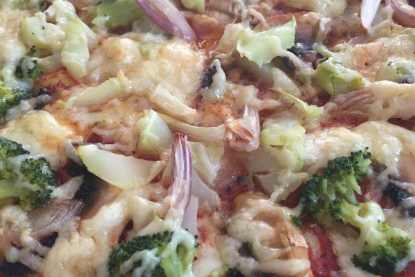 Recette Pizza brocolis-champignons