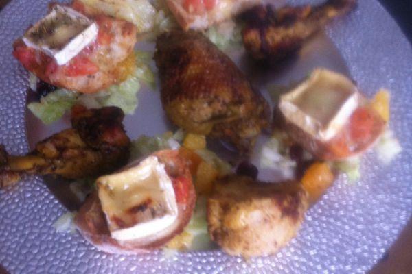 Recette Petits toasts tomates/miel/chèvre