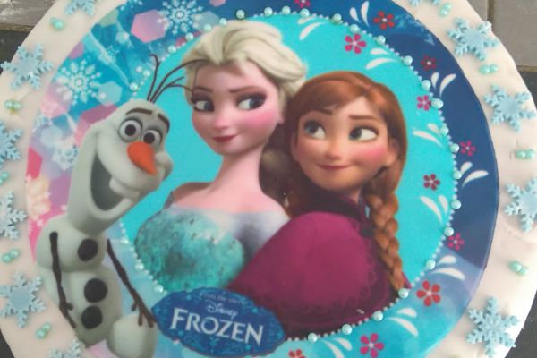 Recette Cake design reine des neiges