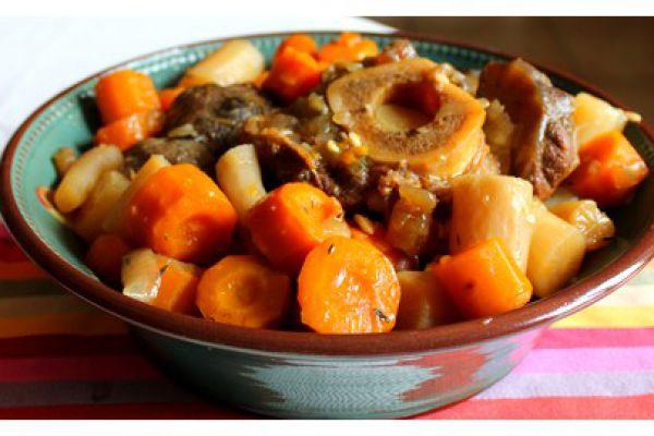 Recette Jarret de boeuf, carottes, pommes de terre COOKEO