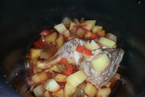 Recette Poulet aux poivrons & pommes de terre COOKEO