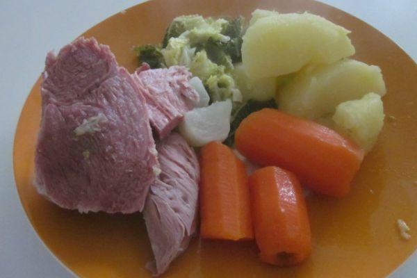 Recette Palette de porc et ses légumes