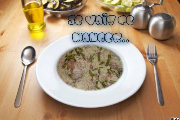 Recette Paupiettes de porc riz haricots verts COOKEO