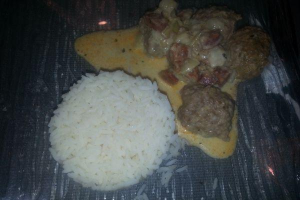 Boulette de viande au chorizo au COOKEO