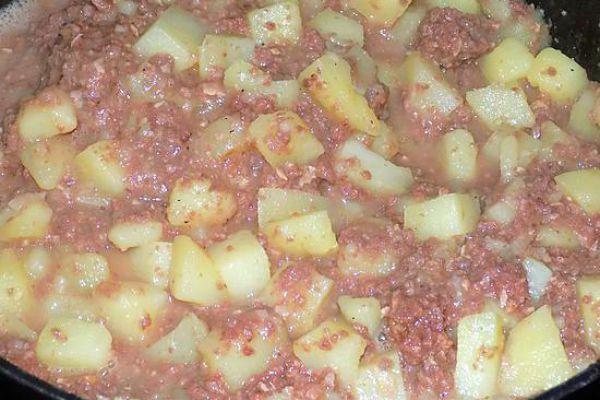 Recette Pommes de terre au corned beef COOKEO