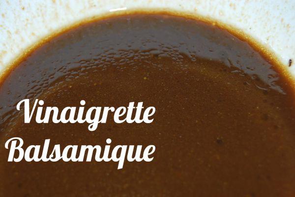 Recette Vinaigrette balsamique ALLEGEE