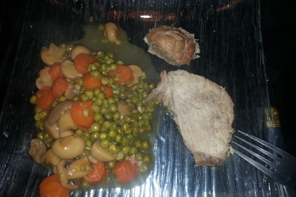Recette Roti de porc aux champignons COOKEO