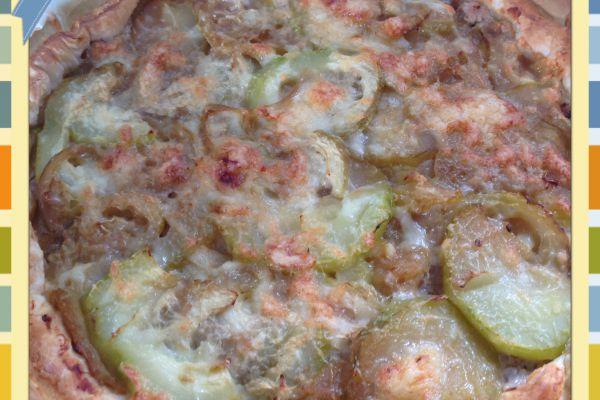 Recette Tarte au thon et courgette