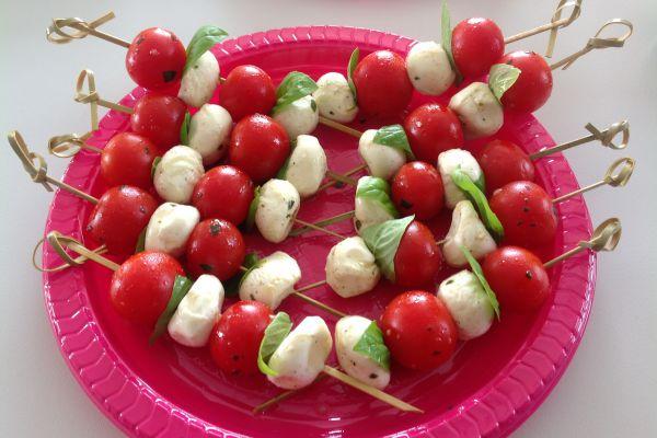 Recette Brochettes tomates-mozzarella