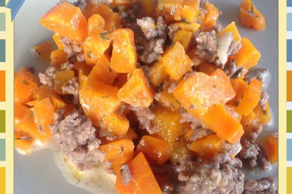 Boeuf haché aux carottes Cookeo