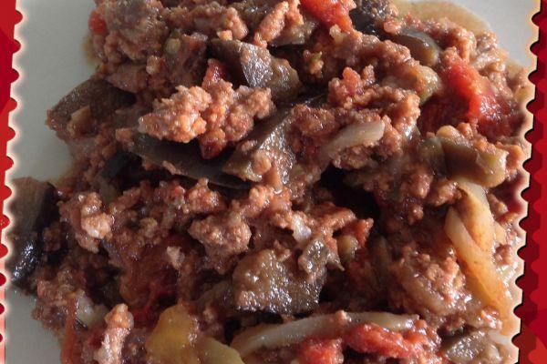 Boeuf haché aux aubergines au Cookeo
