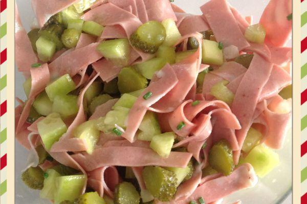 Recette Salade de concombre et mortadelle