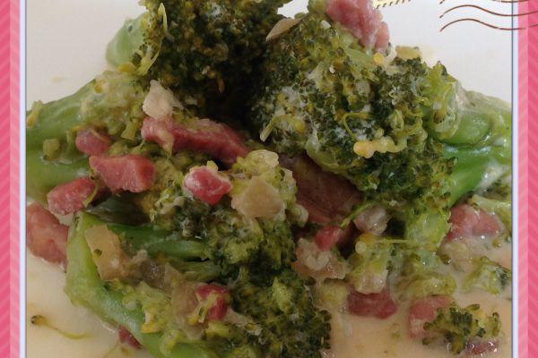 Recette Poêlée de brocolis aux lardons