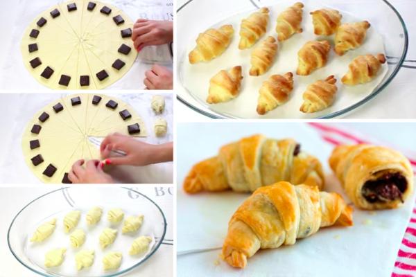 Recette Croissants au chocolat