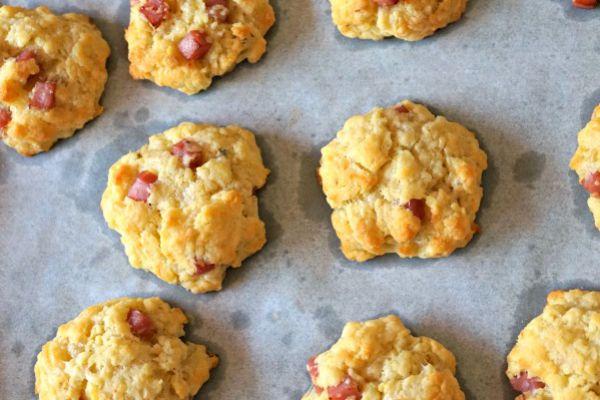 Recette Cookie salée au jambon