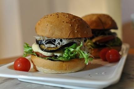 Recette Burger Aubergine Houmous