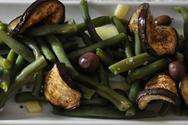Recette Salade de Haricots Verts et Aubergines Marinées