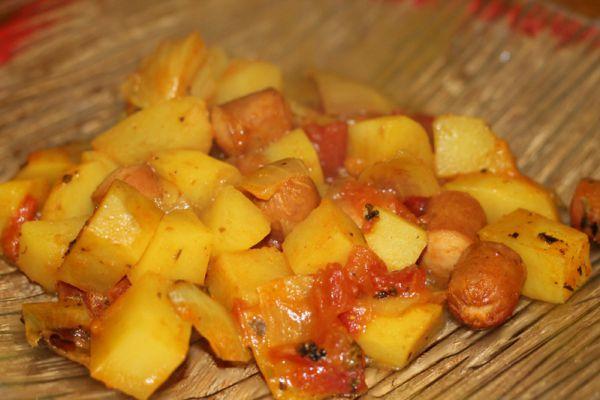 Recette Pommes de terre au knackis au cookeo