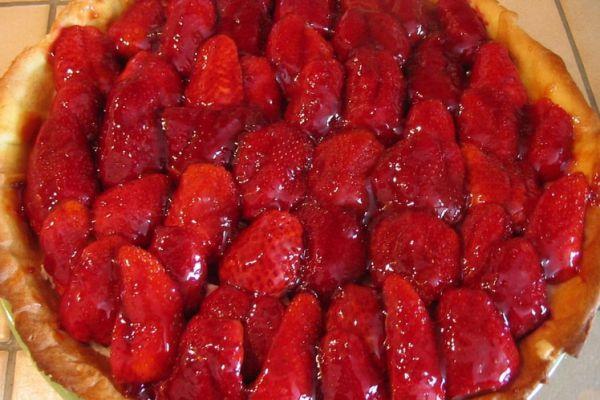 Recette Tarte pâtissière aux fraises