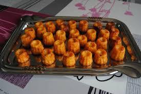 Recette Mini canneles poivrons tomates