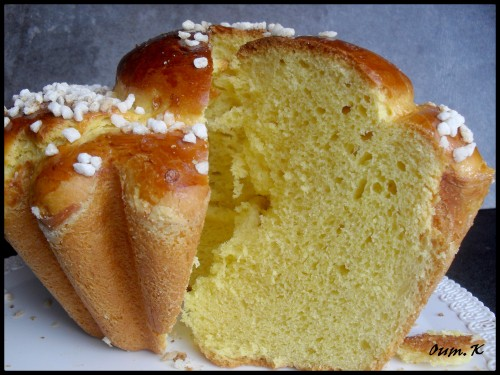 Recette Brioche ronde sucre perlee