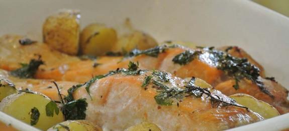 Recette Saumon pommes de t cookeo