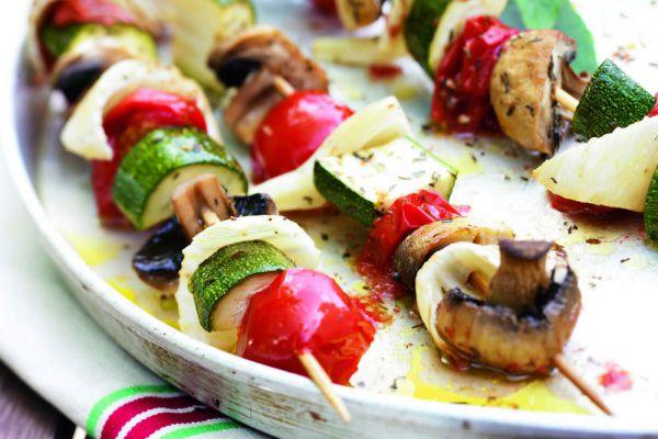 Recette Brochettes de legumes