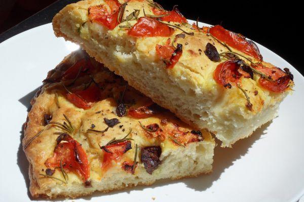 Recette Focaccia au tomates et romarin