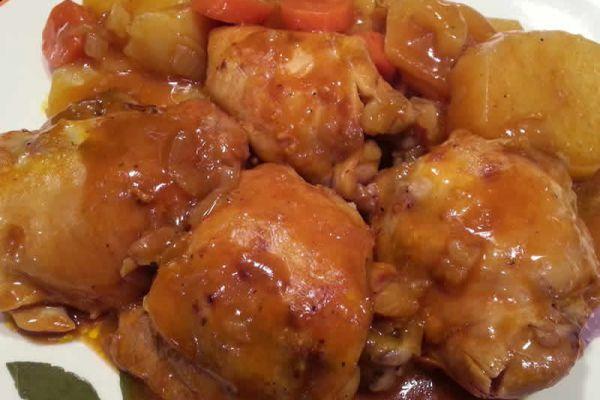 Recette Hauts de cuisse et carottes au cookeo