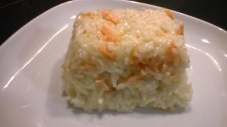 Recette Riz à la crème au saumon