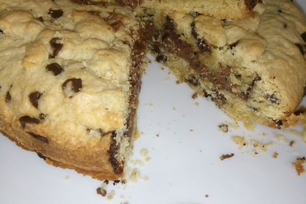 Cookie géant cœur Nutella