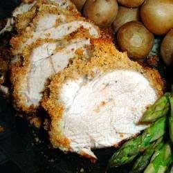 Recette Filet mignon de porc pané et sa sauce au parmesan