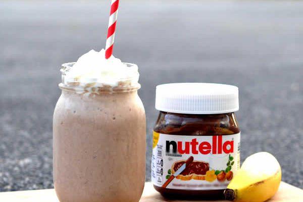 Recette milk-shake banane nutella
