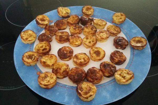 Recette Bouchees aux poireaux et parmesan