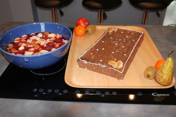 Recette Gateau de savoie et salade de fruit