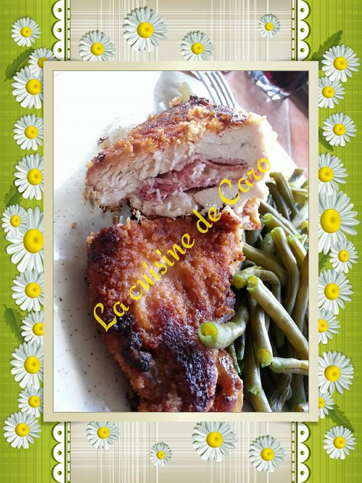 Recette cordon bleu maison sur la cuisine de carole blog de cuisine de carole27 - Escalope cordon bleu maison ...