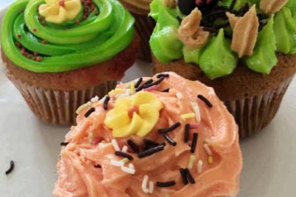 Cupcakes en folie café-pistache- Orange