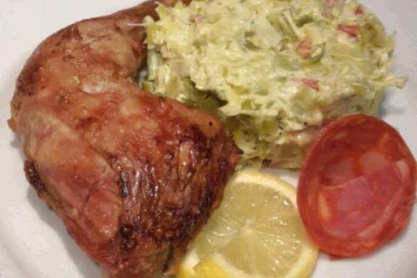 Recette Fondue de poireaux ricotta chorizo - poulet citron