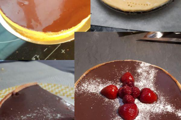 Recette Tarte au chocolat- fruits rouges