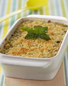 Recette Crumble de courgettes menthe parmesan