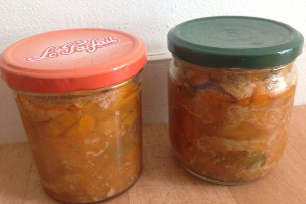 Recette COOKEO -Conserve de maquereaux aux petits légumes et vin blanc