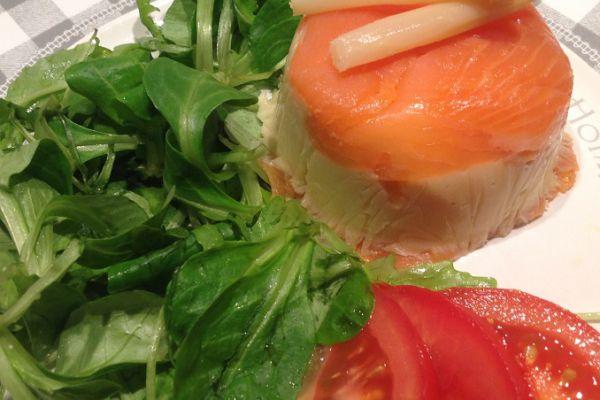 Recette NOEL - Mousseline d'asperges au saumon (truite) - 3 pp